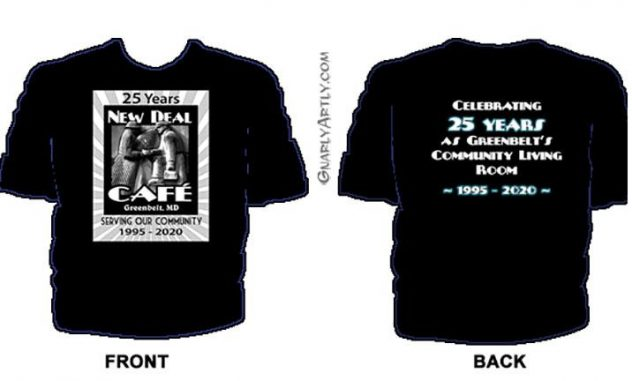 New Deal Cafe 25th anniv T-shirt